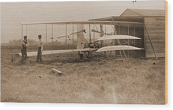Wright Brothers 2nd Powered Machine Wood Print by Padre Art