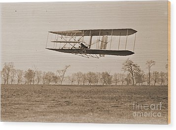 Wright Brothers Flight 85 Wood Print by Padre Art