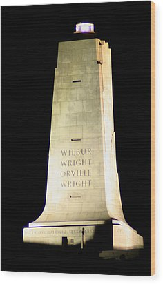 Wright Brothers' Memorial Wood Print