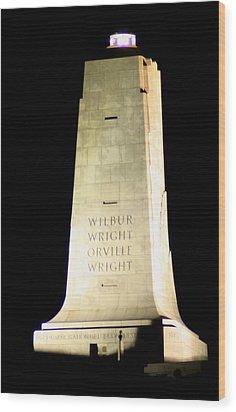 Wright Brothers' Memorial Wood Print by Karen Harrison