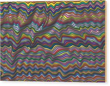 Wrinkled Wood Print