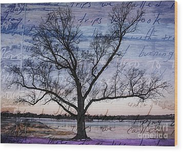 Written On The Wind Wood Print by Terry Rowe
