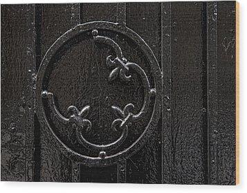 Wrought Iron Design Wood Print by Robert Ullmann