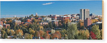 Wsu Autumn Panorama Wood Print