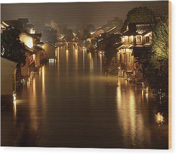 Wuzhen - Venice Of The Far East Wood Print by Andrew Soundarajan
