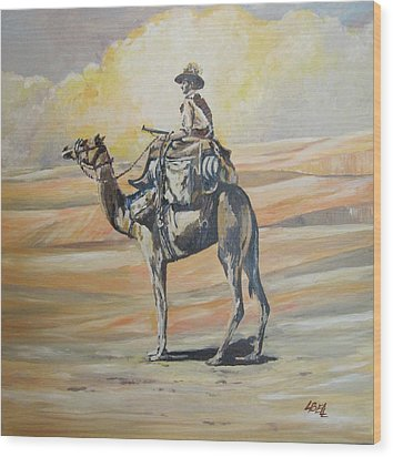 Ww1 Light Horse Cameleer Wood Print by Leonie Bell