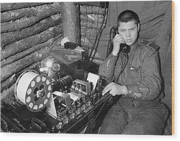 Ww2 Artillery Detection Equipment, 1944 Wood Print by Ria Novosti