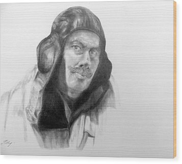 Ww2 Aviator Wood Print by Susan Tilley