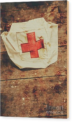 Ww2 Nurse Hat. Army Medical Corps Wood Print by Jorgo Photography - Wall Art Gallery