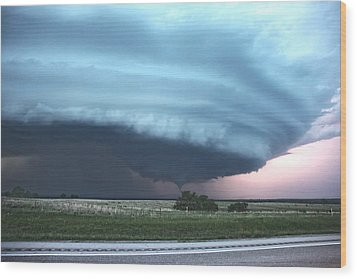 Wood Print featuring the photograph Wynnewood Tornado by James Menzies