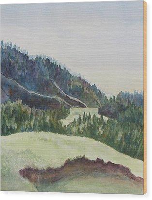 Wyoming Glow Wood Print by Jenny Armitage