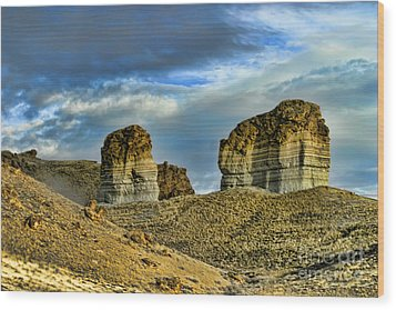 Wyoming Xi Wood Print by Chuck Kuhn