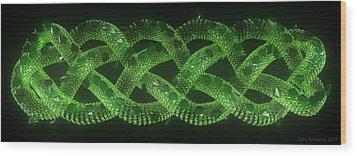 Wyrm - The Celtic Serpent Wood Print