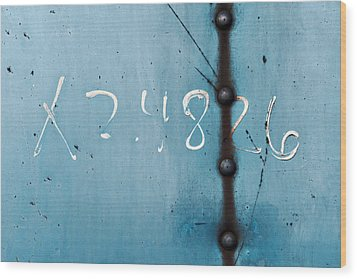 X 2.4826 ...slate Blue Wood Print by Tom Druin