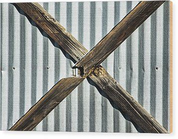 Wood Print featuring the photograph X Marks The Spot by Karol Livote