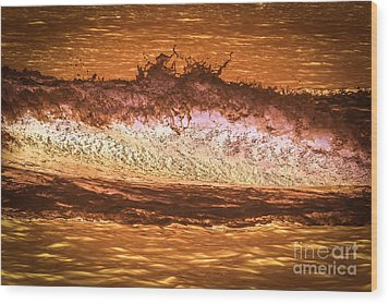 X-ray Of A Wave Wood Print by Claudia M Photography