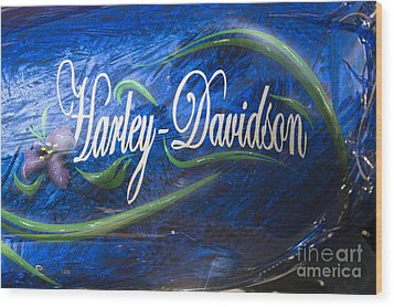 Harley Davidson 2 Wood Print by Wendy Wilton