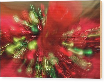 Wood Print featuring the photograph Xmas Burst 2 by Rebecca Cozart
