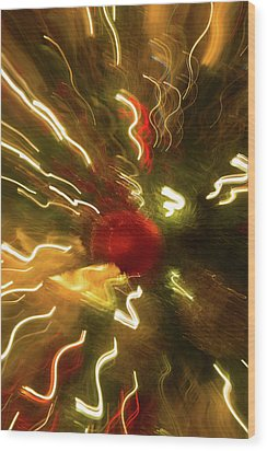 Wood Print featuring the photograph Xmas Burst 3 by Rebecca Cozart