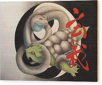 Xuan Wu Wood Print by Lauren Cawthron