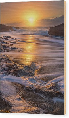 Wood Print featuring the photograph Yachats' Sun by Darren White