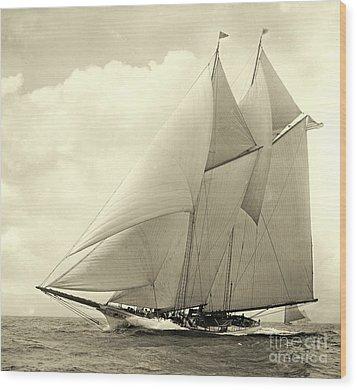 Yacht America 1910 Wood Print by Padre Art