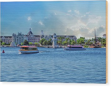 Yacht And Beach Club Walt Disney World Wood Print by Thomas Woolworth
