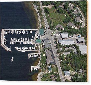 Yacht Works Marina To North Wood Print