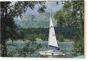 Yachting Lake Windermere Wood Print