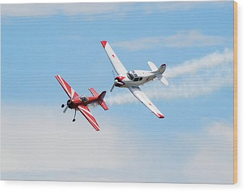 Yak 55 And Yak 18 Wood Print