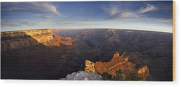 Yaki Point Panorama Wood Print by Andrew Soundarajan