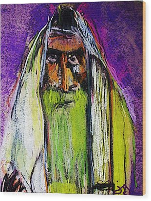 Yakov Wood Print by Joyce Goldin
