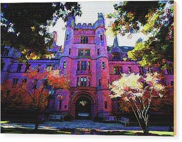 Yale Wood Print