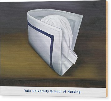 Wood Print featuring the painting Yale University School Of Nursing by Marlyn Boyd