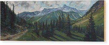 Wood Print featuring the painting Yankee Boy Basin by Billie Colson