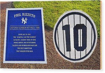Yankee Legends Number 10 Wood Print by David Lee Thompson
