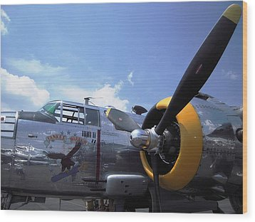 Wood Print featuring the photograph Yankee Raider B-25  by Don Struke