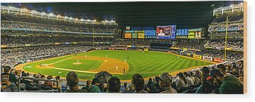 Yankee Stadium Wood Print