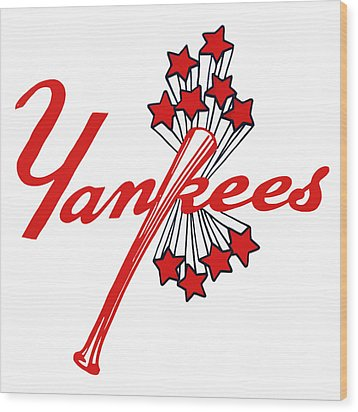 Wood Print featuring the digital art Yankees Vintage by Gina Dsgn