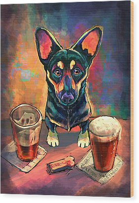 Yappy Hour Wood Print by Sean ODaniels