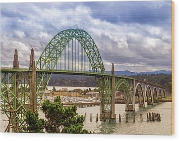 Wood Print featuring the photograph Yaquina Bay Bridge by James Eddy