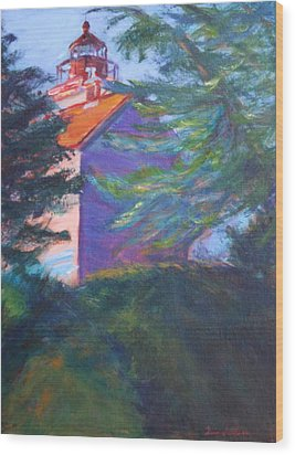 Yaquina Bay Lighthouse  Wood Print by Quin Sweetman