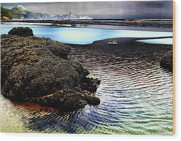 Yaquina Dream Wood Print by Mick Anderson