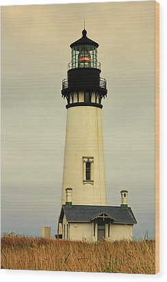 Yaquina Head Lighthouse - Newport Or Wood Print by Christine Till
