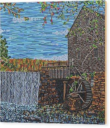 Yates Mill Wood Print by Micah Mullen