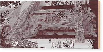 Yavin Temple Wood Print