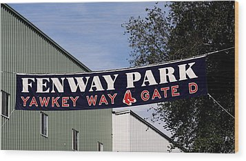 Yawkey Way II Wood Print by Greg DeBeck