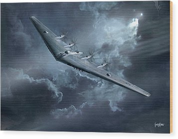 Yb-35 Flying Wing  Wood Print