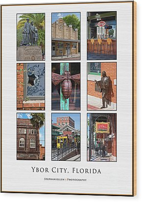 Ybor City Poster Wood Print