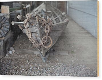 Wood Print featuring the photograph Ye Old Fishing Boat by Fran Riley